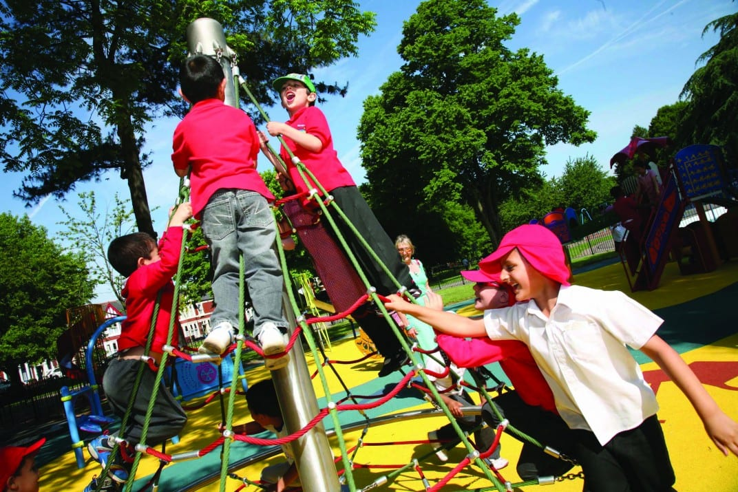 We focus on creating freestanding structures where children can climb to new heights